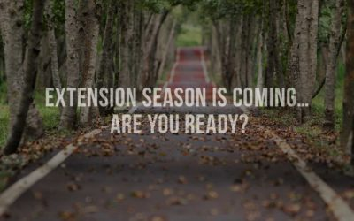 Extension season is coming… are you ready?