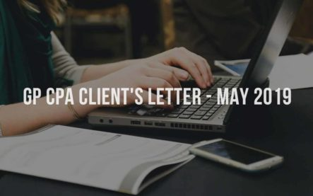GP CPA Client's Letter – May 2019