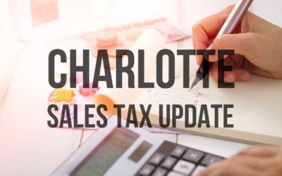 GP CPA Charlotte Sales Tax News Update